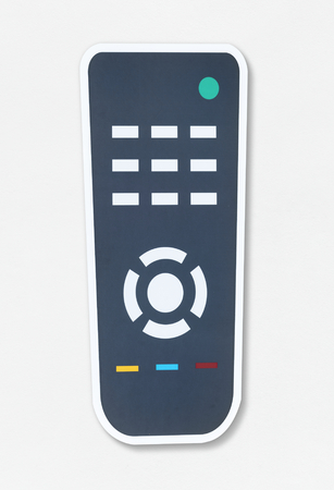 Flat remote control vector illustration