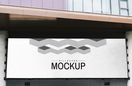 Minimal large-scale horizontal billboard mockup