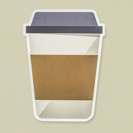 Takeaway hot beverage cup icon isolated Фото со стока