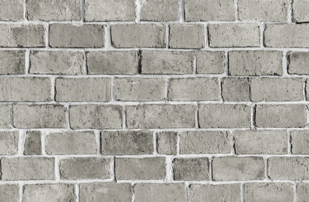 Gray textured brick wall background Stock Photo