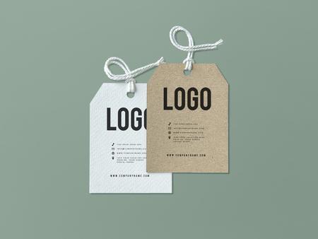 Pair of fashion label tag mockups Stock fotó - 112149872