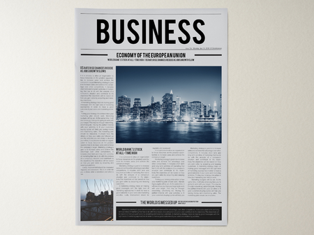 Latest business news newspaper mockup