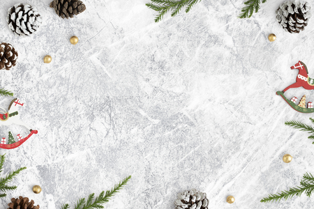 Festive Christmas decorated background mockup Reklamní fotografie