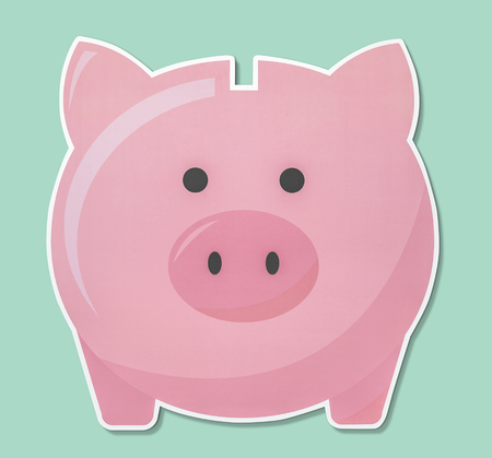 Piggy bank for saving money icon