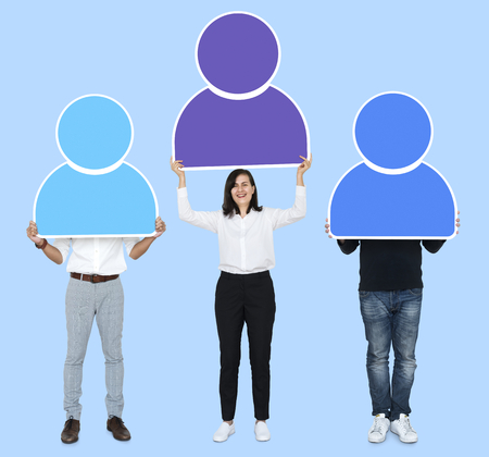 Business people with stand out concept