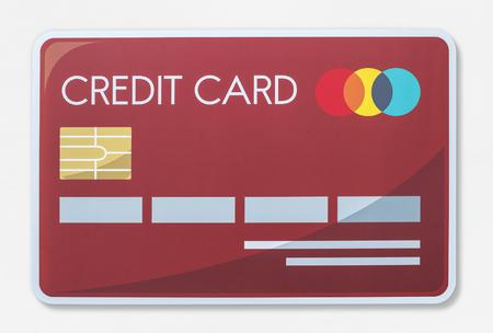 Credit card vector illustration icon Фото со стока