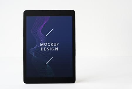 Wireless tablet screen mockup template
