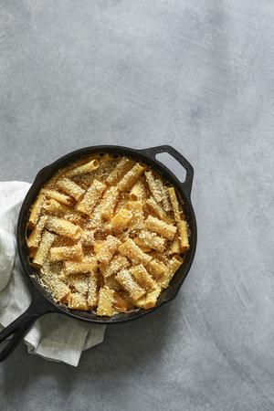 Homemade baked vegan Mac n Cheese