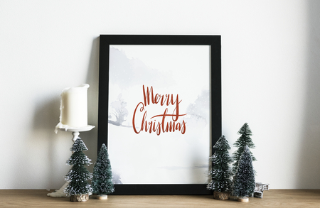 Christmas holiday greeting design mockup Stock Photo