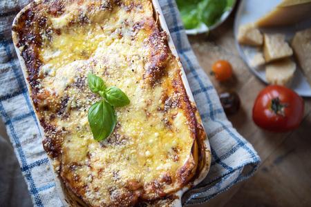 Idée de recette de photographie culinaire maison lasagne Banque d'images