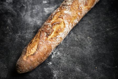 Homemade sourdough baguette food photography recipe idea Stock Photo