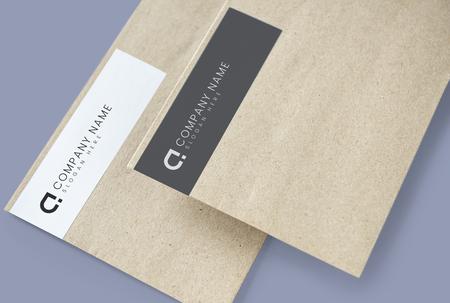 Recycled natural paper envelope mockups Foto de archivo - 112153890