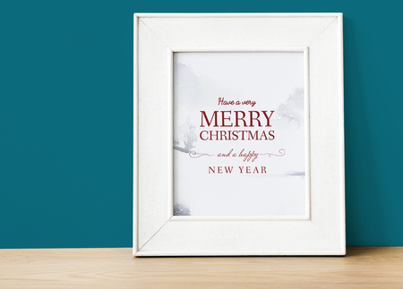 Christmas holiday greeting design mockup Stock Photo - 112153892