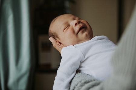 Closeup of a peaceful baby asleep