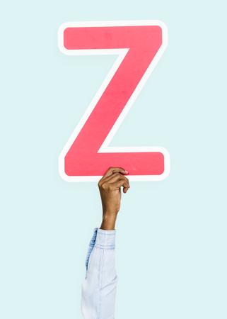 Hand holding the letter Z Banco de Imagens