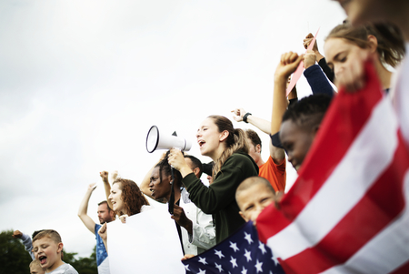 Un groupe d'activistes américains proteste