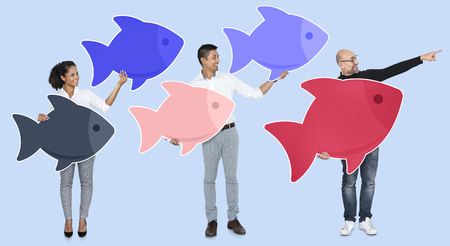 Business team with leader concept Stock Photo