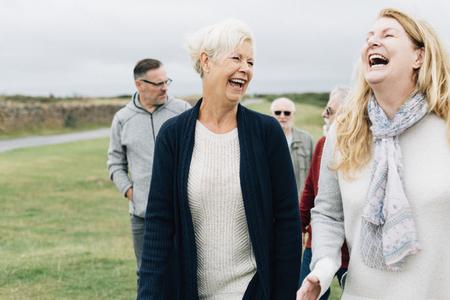 Group of elderly people enjoying together