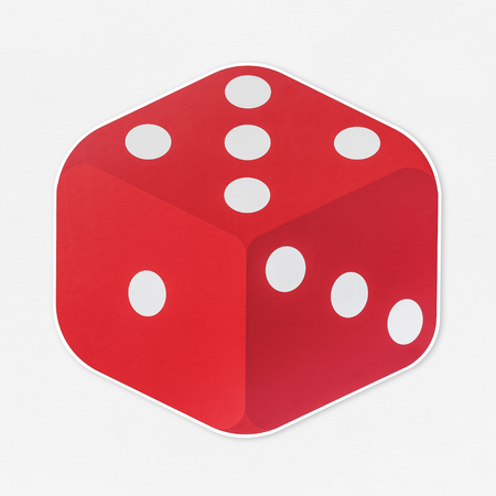 Red dice gambling tool icon