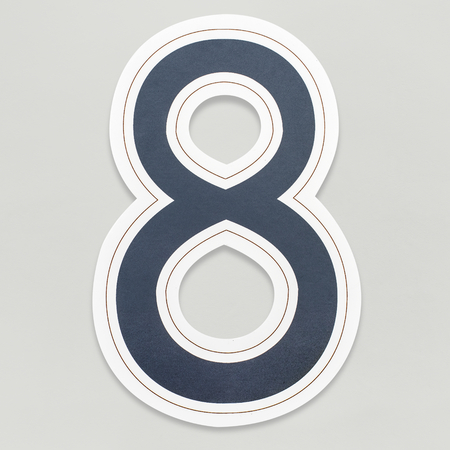 Number 8 icon isolated