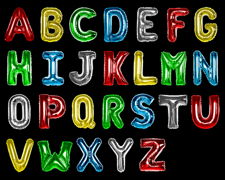 Set of colorful capital alphabet balloons
