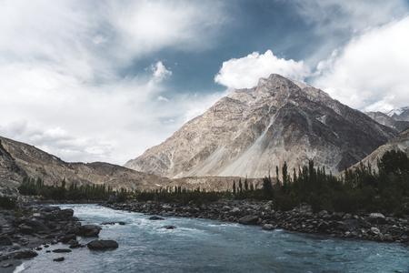 Beautiful Himalayas mountains in Pakistan Stock Photo