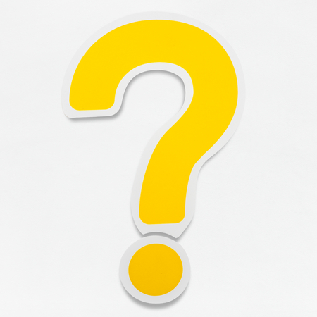 Yellow question mark sign ? icon isolated Stok Fotoğraf