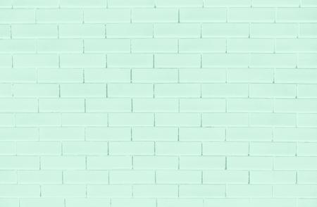 Green brick wall textured background Stock Photo