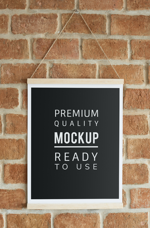 Ready to use premium quality poster mockup Stock fotó