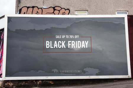 Black Friday sale board mockup Stock Photo