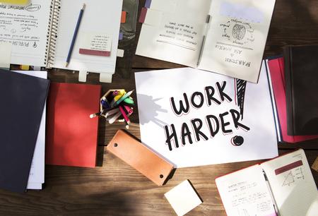 Phrase Work harder in a workspace