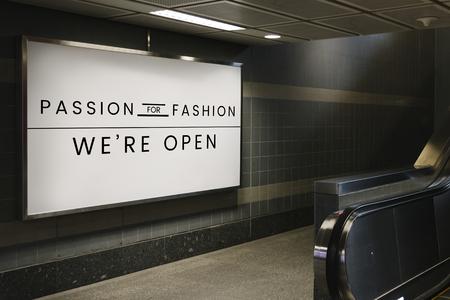 Passie voor mode uithangbord mockup