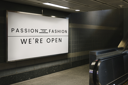 Passione per il mockup dell'insegna di moda