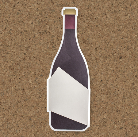 Bottle of champagne icon isolated Standard-Bild - 112595549
