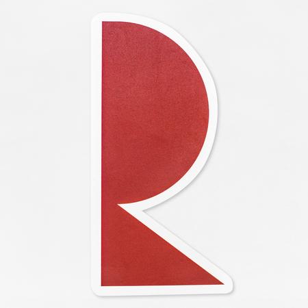 English alphabet letter icon isolated