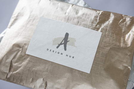 Silver and golden package mockups