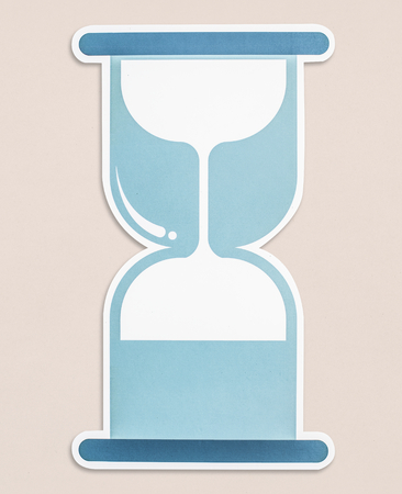 Blue hourglass icon isolated 写真素材
