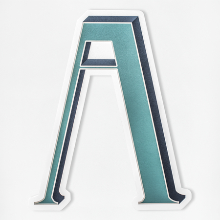 English alphabet letter A icon isolated