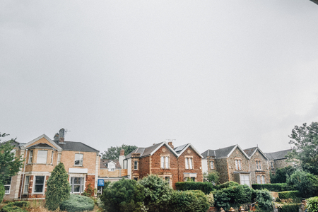 Row of houses in Bristol, England Zdjęcie Seryjne - 112595689