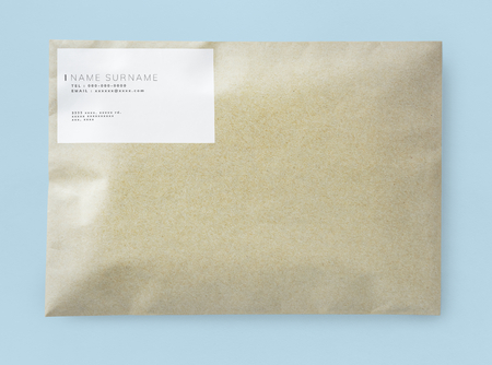 Natural brown paper envelope mockup