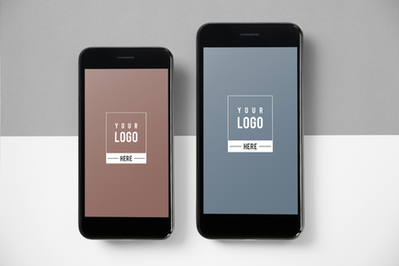 Premium mobile phone screen mockup template 版權商用圖片 - 113085590