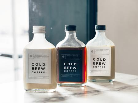 Cold brew coffee bottle mockup design