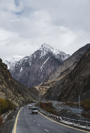 Road to the Himalaya Mountains Stock Photo