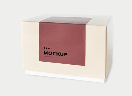 Simple packaging paper box mockup