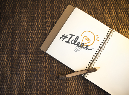 Creative ideas on a notebook
