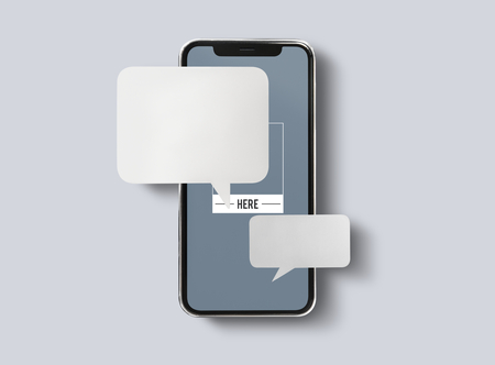 Messaggistica chat sul modello di telefono cellulare