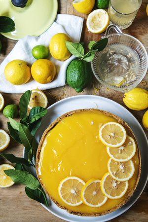 Homemade lemon cheesecake food photography recipe idea
