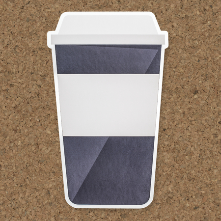 Takeaway hot beverage cup icon isolated Banco de Imagens