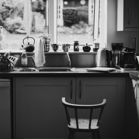 Interiors of a homely kitchen Stock Photo