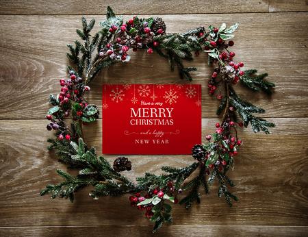 Christmas holiday greeting design mockup Archivio Fotografico